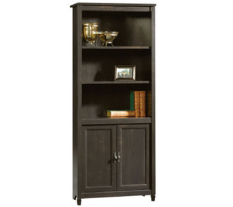 Sauder Edge Water Collection Library w/Doors -Estate Black - H182624