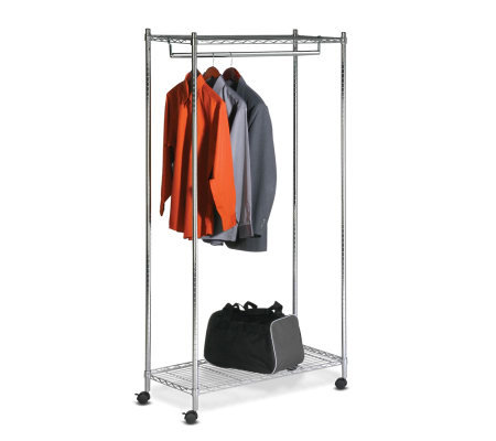 Honey-Can-Do Urban Garment Rack - Deluxe Commercial Chrome