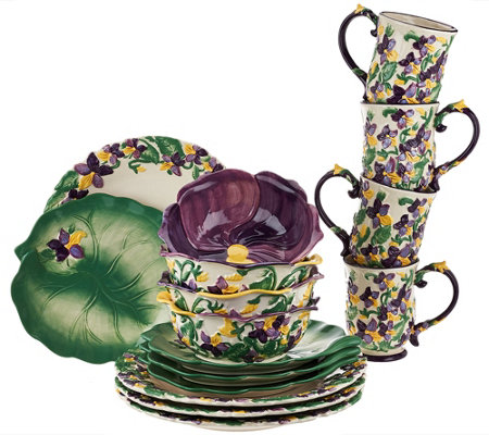 Temp-tations 16-piece Figural Floral Dinnerware Service for 4