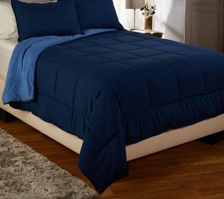 berkshire blanket f/q reversible polarfleece comforter set - page
