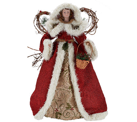 "18"" Holiday Angel with Fabric Gown by Valerie"