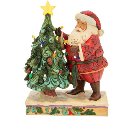 Jim Shore Heartwood Creek Santa Decorating_Tree Figurine