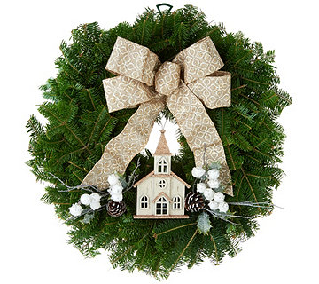 Del. Week 12/11 Fresh Balsam Holiday Wreath by Valerie - H213024