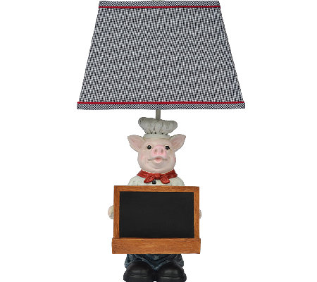 "25"" Chef Oink Table Lamp by Valerie"