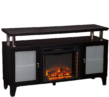Cabrera Media Fireplace - Black