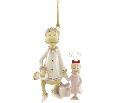 Lenox Grinch's Very Merry Sound Ornament