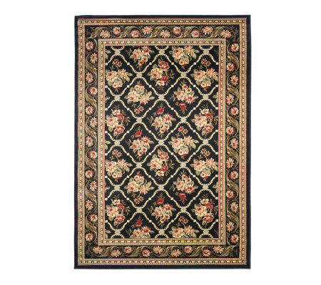 "Lyndhurst Floral Lattice Power Loomed 3'3"" x 5'3"" Rug"