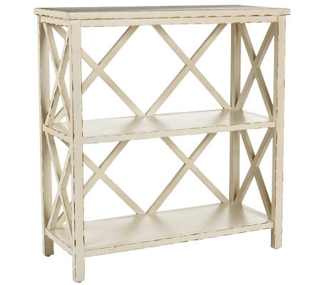 Safavieh Liam Open Bookcase - Distressed IvoryFinish