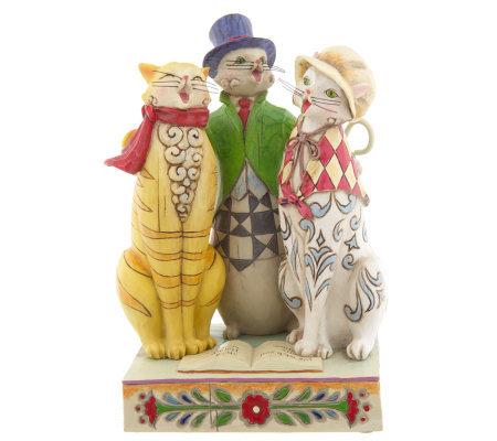 Jim Shore Heartwood Creek Three Caroling Cat Figurine