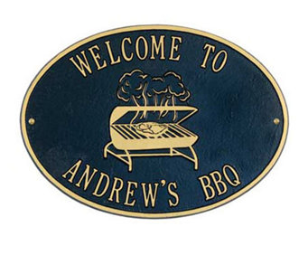 Personalized Grill Plaque - H139325