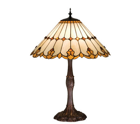 Tiffany-Style Nouveau Cone Table Lamp