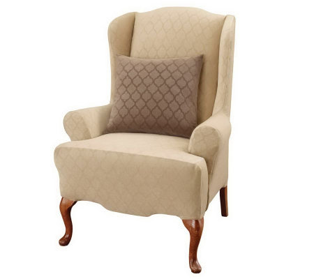 Sure Fit Stretch Marrakesh Wing Chair Cover — QVC