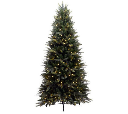 BethlehemLights 6.5' Balsam Fir Tree with LED Lights, Instant Power & 5yr.LMW