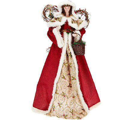 "32"" Holiday Angel with Fabric Gown by Valerie"