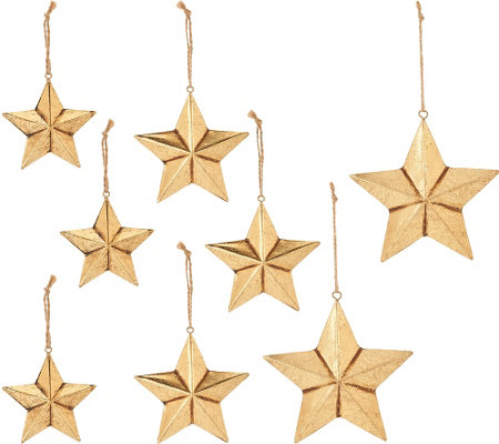 ED On Air Set of 9 Metal Star Ornaments by Ellen DeGeneres