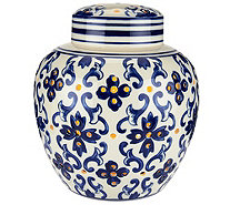 "7.5"" Illuminated Porcelain Ginger Jar by Valerie - H208625"