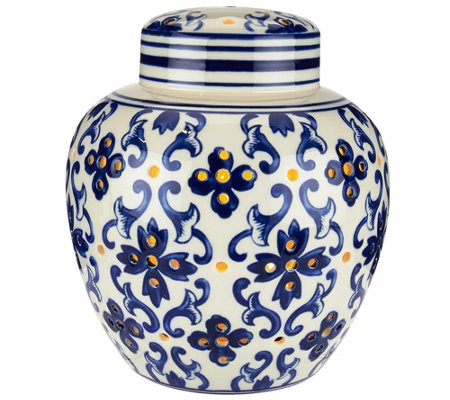 "7.5"" Illuminated Porcelain Ginger Jar by Valerie"
