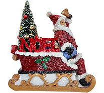 Kringle Express Illuminated Snowman or Santa with Tree Luminary - H208825
