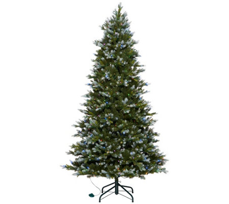 Scott Living 7.5' Snow Dusted Color Flip LED Fir W/ 7 Functions