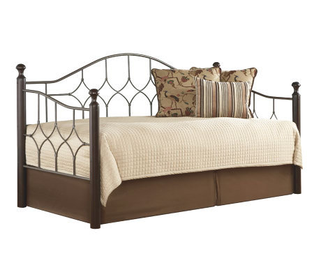 Fashion Bed Group Bianca Hammered Pewter/Espresso Daybed