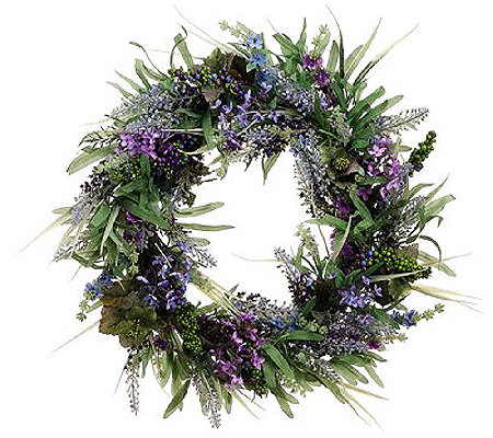 "20"" Spring Lavender Wreath by Valerie"
