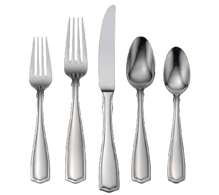 Oneida Carolina 18/10 Stainless Steel 65 Pc. Flatware Set