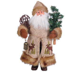 "15"" Woodsy Santa by Santa's Workshop - H286425"