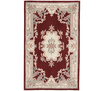 Rugs America New Aubusson 8' x 11' Wool Accent Rug - H287325