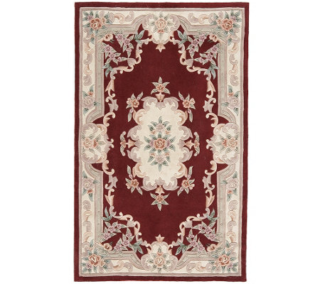 Rugs America New Aubusson 8' x 11' Wool Accent Rug
