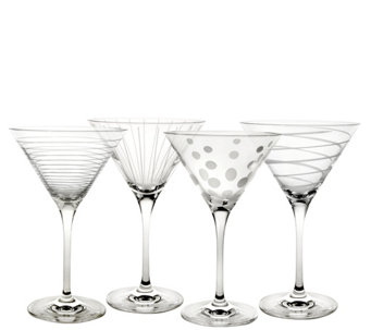 Mikasa Set of 4 Martini Glasses - Cheers Collection - H289225