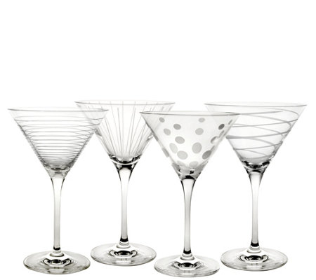 Mikasa Set of 4 Martini Glasses - Cheers Collection
