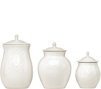 Lenox French Perle Set of 3 Canisters - H289425