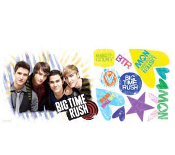 RoomMates Big Time Rush Peel & Stick Giant WallDecal - H348925