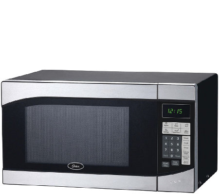 oster 0 9 cubic ft 900w digital microwave oven stainless. Black Bedroom Furniture Sets. Home Design Ideas