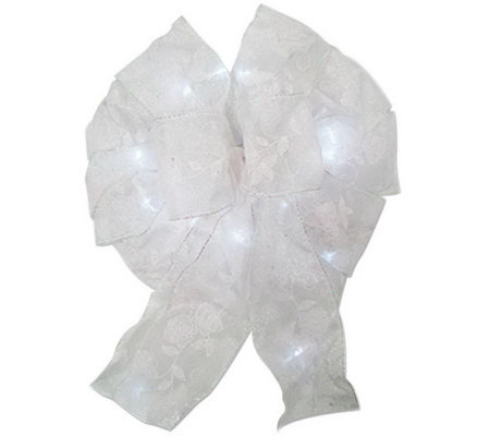 Battery Operated 15-Light LED Bow