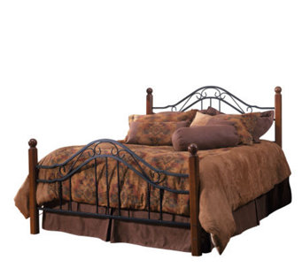 Hillsdale House Madison Full Bed - Cherry Finish/Black - H156326