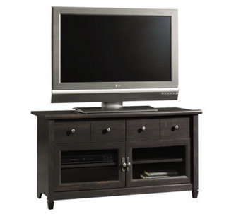 Sauder Edge Water Collection Panel TV Stand - Estate Black - H182626