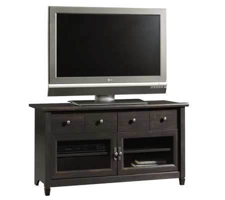 Sauder Edge Water Collection Panel TV Stand - Estate Black