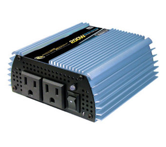12 Volt DC to AC 200 Watt Power Inverter - H182726
