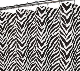 Watershed 2-in-1 Zebra Zebra 72x72 Shower Curtain - H186226