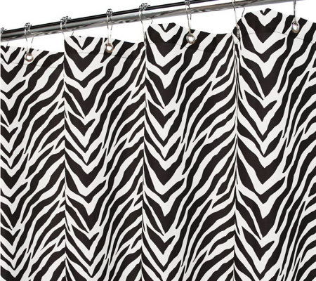 Watershed 2-in-1 Zebra Zebra 72x72 Shower Curtain