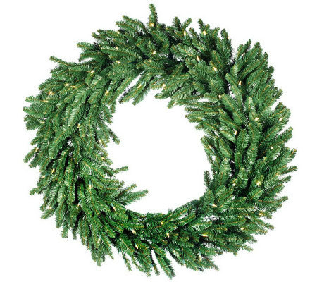 "Bethlehem Lights 48"" Wreath with Glistening Lights"