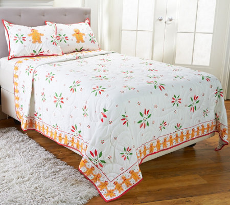 Temp-tations Gingerbread Man Full/Queen Quilt Set by Berkshire
