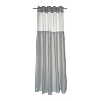 EZ-On Diamond Dobby Shower Curtain with Liner