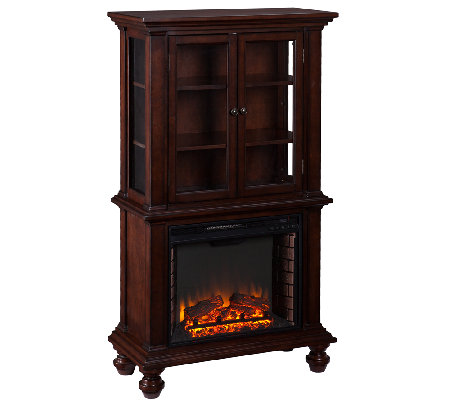 Tinsley Fireplace Curio - Espresso