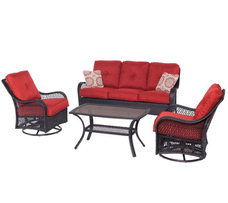 Hanover Outdoor Orleans 4-Piece All-Weather Patio Set