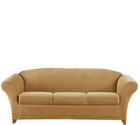 Sure Fit Stretch Pique 3-Seat Sofa Slipcover