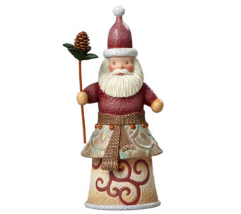 Jim Shore River's End Santa with Pinecone Staff - H290226