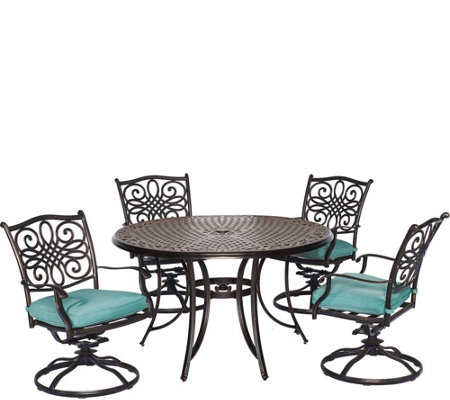 Cambridge Seasons 5-Piece Dining Set with FourSwivel Rockers