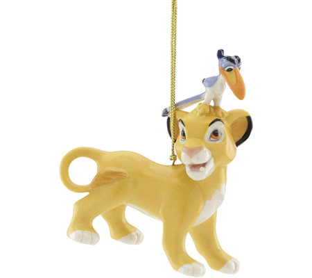 Lenox Simba and Zazu Ornament